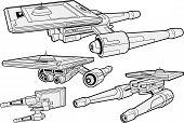 stock photo of starship  - Vector illustration depicting  - JPG
