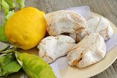 picture of sugar paste  - fragrant and sweet Sicilian almond paste with sugar and lemon - JPG