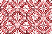 foto of floor covering  - Vector illustration of seamless traditional national embroidered pattern - JPG