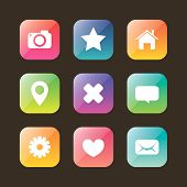 image of home is where your heart is  - Colored web icon set for your design - JPG