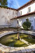 picture of anjou  - Mission San Luis Obispo de Tolosa Courtyard Fountain San Luis Obispo California - JPG