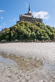 picture of michel  - View to Mount St Michel in Normandy France