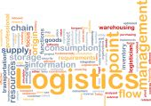 stock photo of supply chain  - Word cloud concept illustration of logistics management - JPG