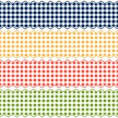stock photo of bordure  - four colored Banner Checkered Pattern  - JPG