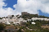 picture of revelation  - The Chora and Saint John Theologos monastery at Patmos island in Greece - JPG
