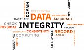 stock photo of integrity  - A word cloud of data integrity related items - JPG