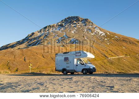 Camper in the mountain