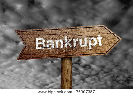 Bankrupt Road Sign
