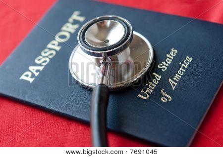 Stethoscope on US Passport