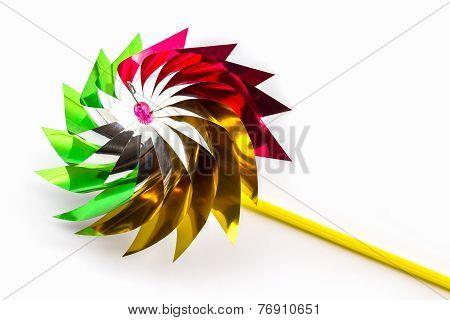 Multicolored Pinwheel Toy
