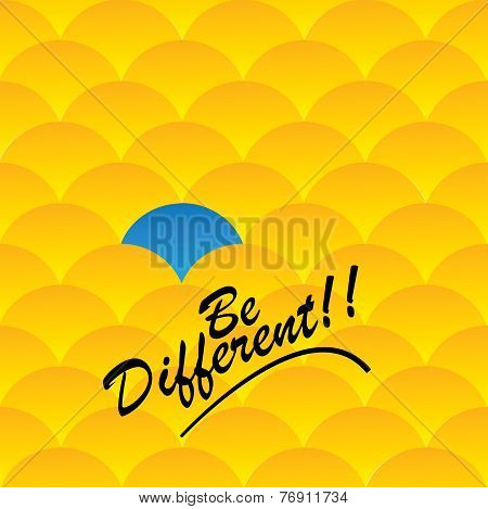 Being Different and taking risks for success in life - Concept Vector