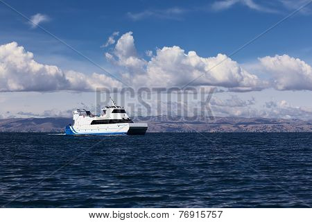 Passenger Ferry on Lake Titicaca, Bolivia