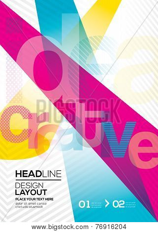 Cmyk Vector Abstract Design Layout Background