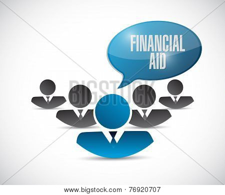Financial Aid Team Illustration Design