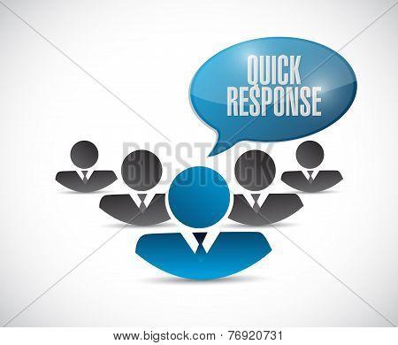 Quick Response Teamwork Message