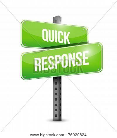 Quick Response Sign Illustration Design