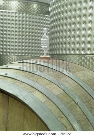 Winery, Barrel And Vats