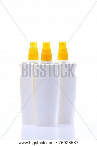 Sunscreen Jar Isolated On White Background..