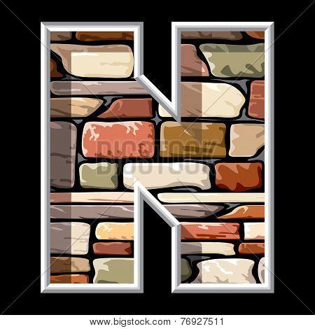 stone letter N