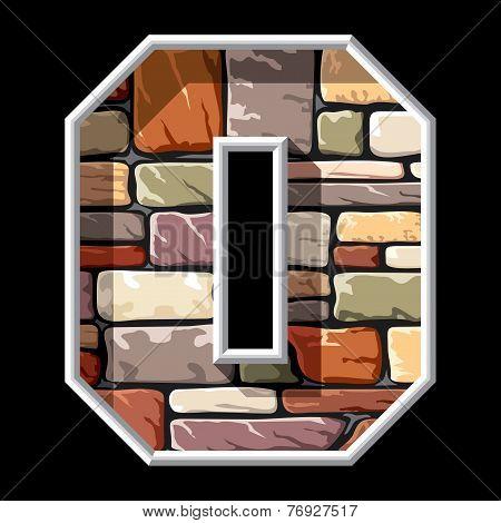 stone letter O