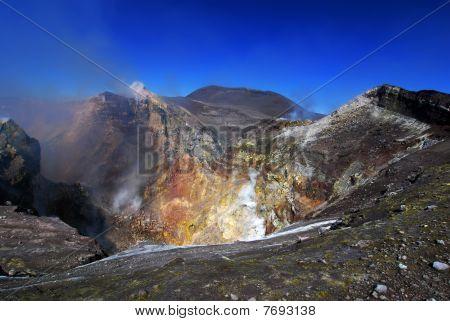 Ätna Vulkanausbruch, Sizilien