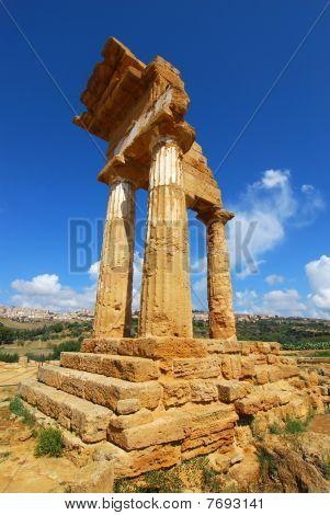 Dioscuri Temple Of Agrigento, Sicily