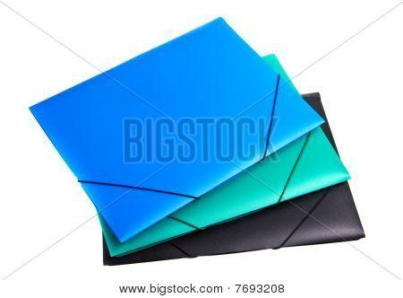 Three Plastic Files