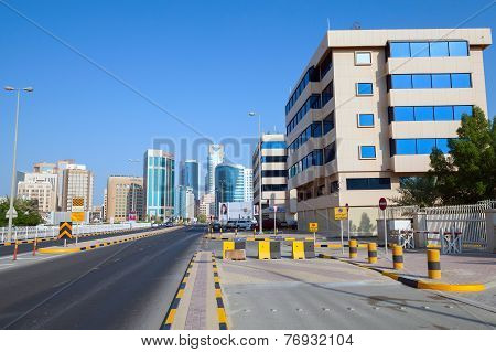 Government Avenue. Street View Of Manama City