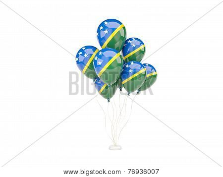 Flying Balloons With Flag Of Solomon Islands