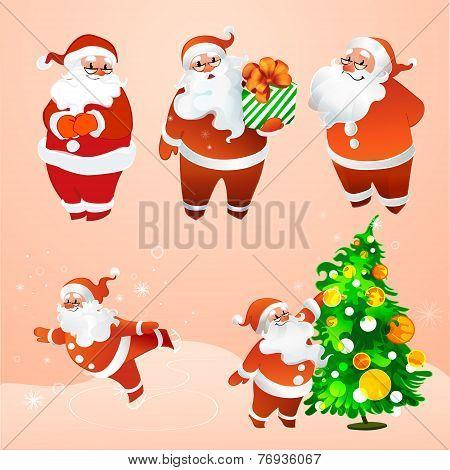 Cheerful Santa Claus In Glasses