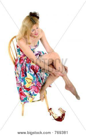 lächelnd Mitte im Alter von Frau auf ihre Schlauch 2