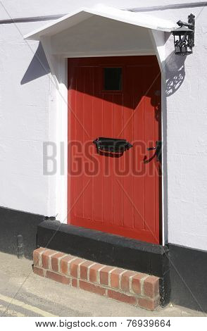 Flood Defence Doorway On House. England