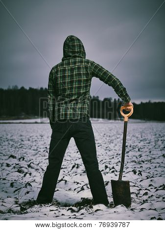 Man And Shovel