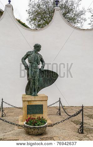 Bronze Statue Of A Matador, Ronda, Spain