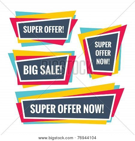 Sale abstract vector banners concept. Offer abstract banners. Abstract background. Design elements.