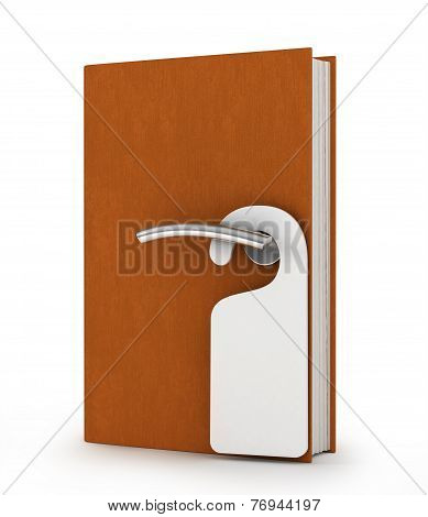 door handle in book, knowledge concept