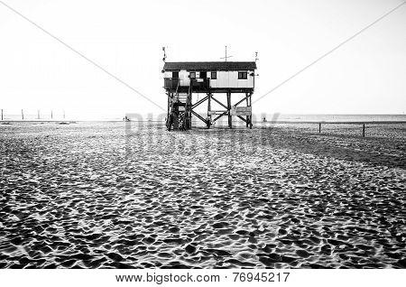 Stilt House At The Beach