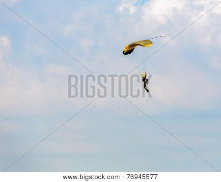 Athlete Skydiver Flying