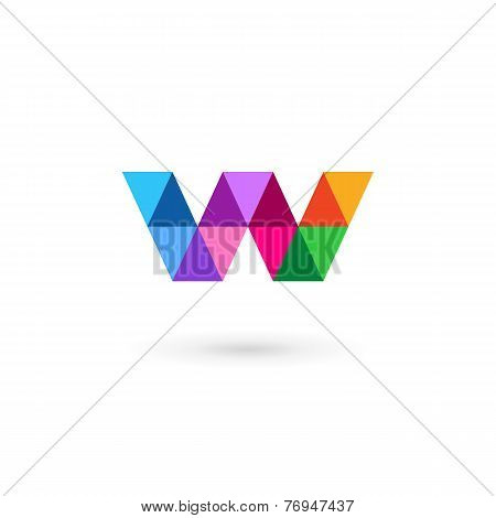 Letter W Mosaic Logo Icon Design Template Elements