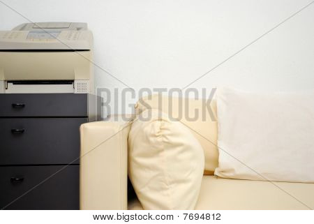 Modern Sofa With Fax Machine
