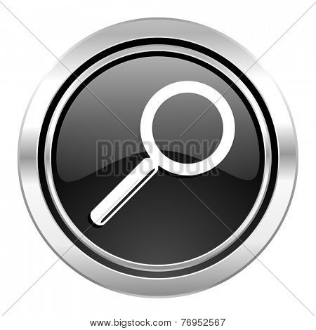 search icon, black chrome button