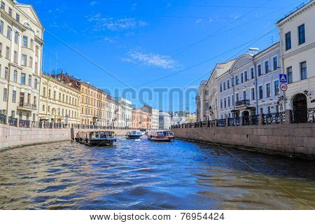 The Canals Of St. Petersburg, river channel
