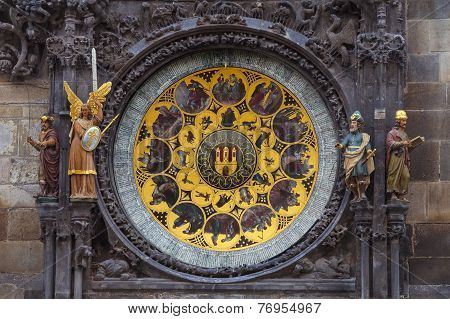 Astronimical clock of old town hall in Prague
