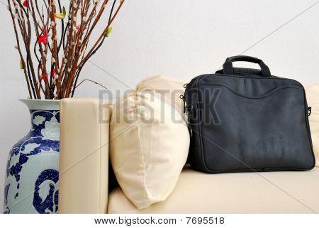 Koffer mit chinesischen Neujahr baum dekoration