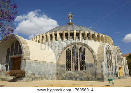 Church of Our Lady Mary of Zion, the most sacred place for all Orthodox Ethiopians. Aksum, Ethiopia.