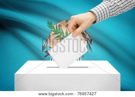 Voting Concept - Ballot Box With National Flag On Background - Oklahoma