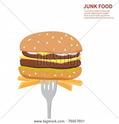 junk food background isolated