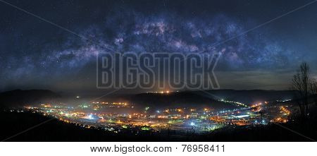 Mountain Town At Night