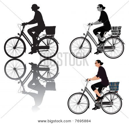 Biking Lady