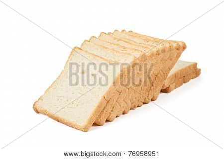 Heap Of Toast Bread Slices